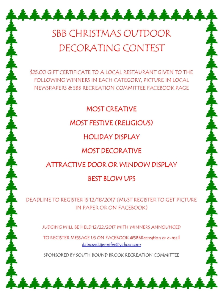 2017 Outdoor Christmas Decorating Contest Borough Of